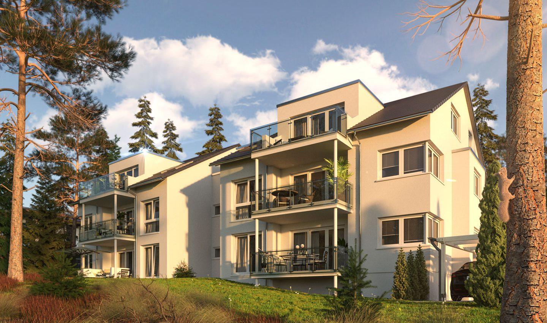 3D Visualisierung Mehrfamilienhaus 2019