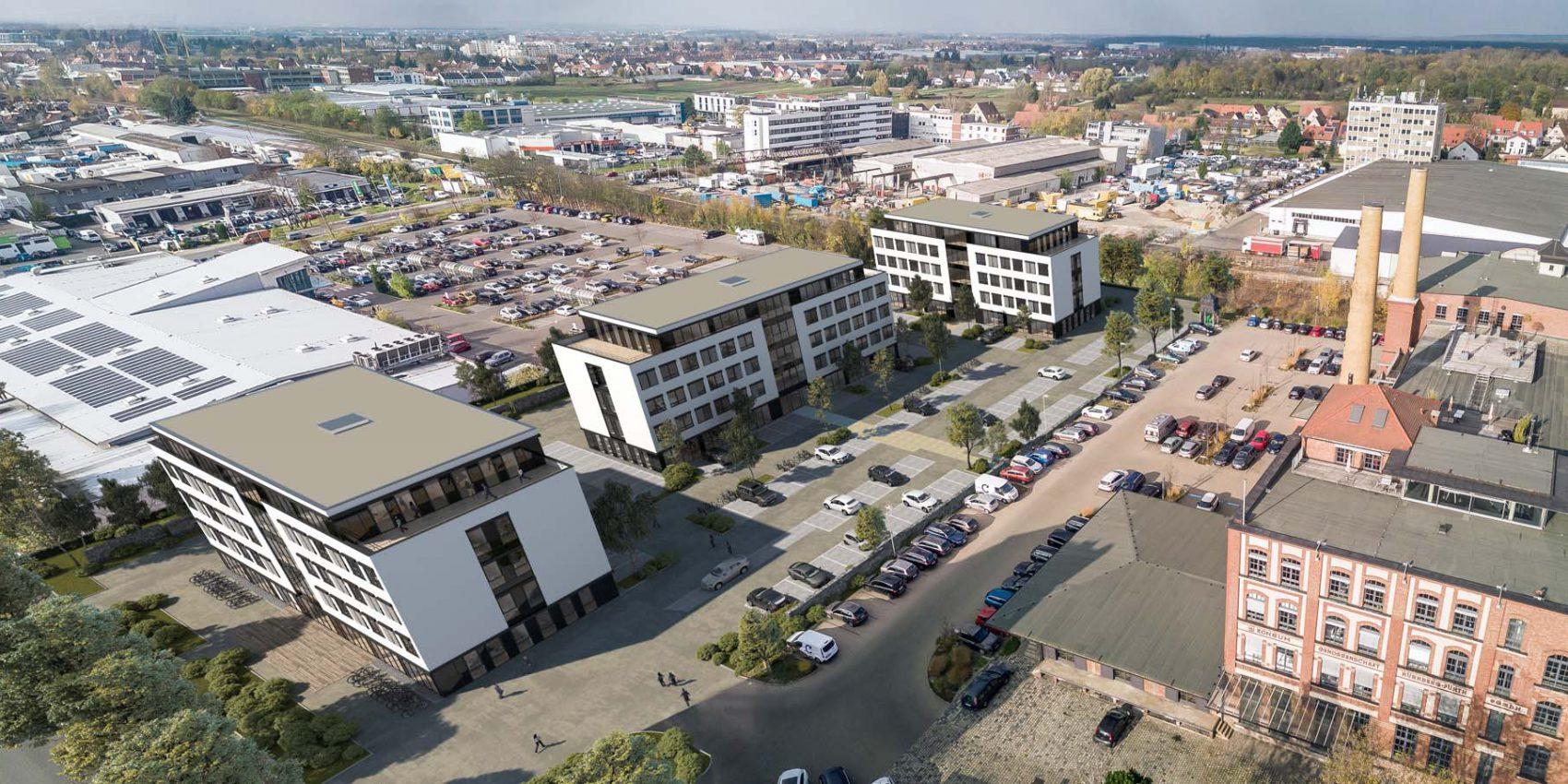 3D Fotomontage Bürogebäude  2020