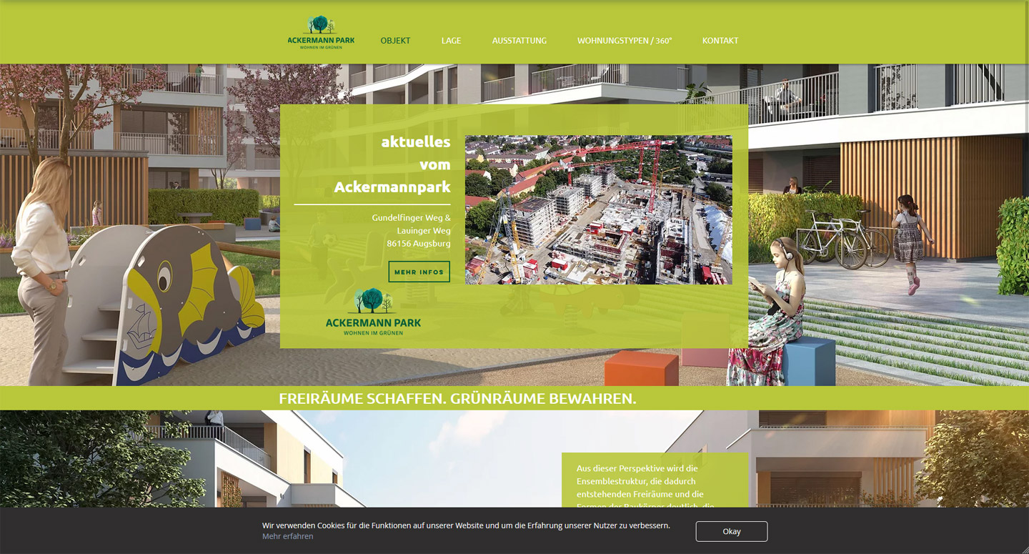 Ackermannpark Websiteerstellung  2019