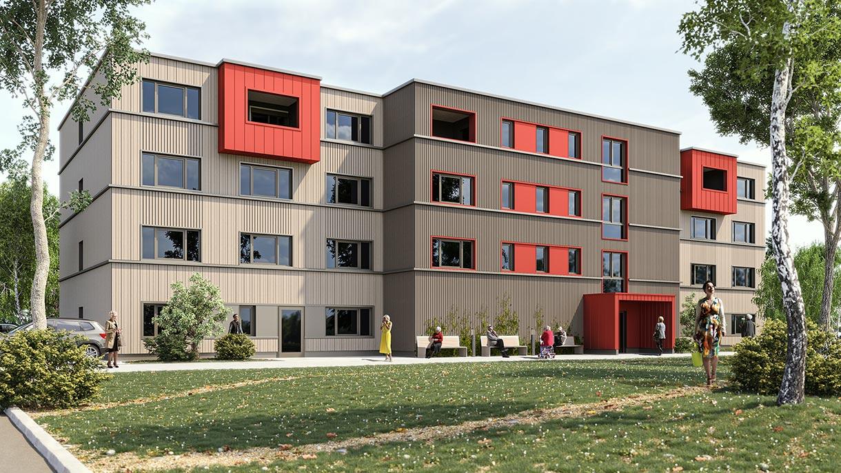 3D Visualisierung Altenheim 2021